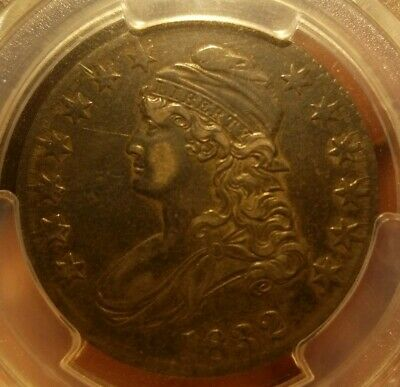 1832 PCGS XF45 Small Letters O-105a R.4 Capped Bust Half Dollar Morr like AU50+