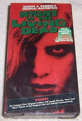 Night of Living Dead VHS Video George A. Romero Collector's Edition