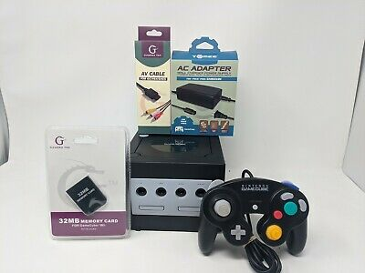 Nintendo GameCube Black Console REFURBISHED AND TESTED OEM Controller
