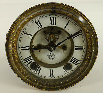Ansonia Clock Movement With Beveled Glass 20-22