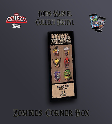Topps Marvel Collect Digital - Marvel Zombies Corner Box rare insert (cc991)