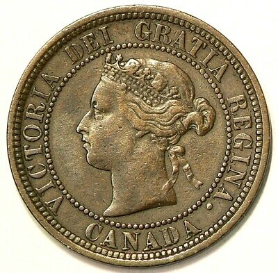 1881 H Canada Large Cent Doubling All Around The Legend Variety #4083