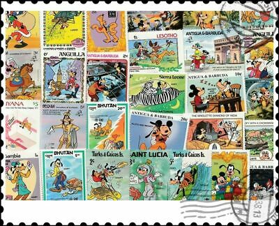 Walt Disney Pluto & Goofy : 25 Different Stamps Collection