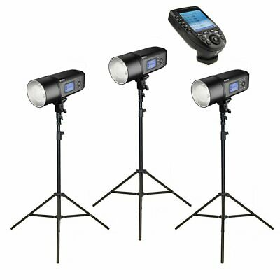3 x Godox AD600Pro Witstro Studio Flash Strobe Light & Stand Kit with XPro Tr...