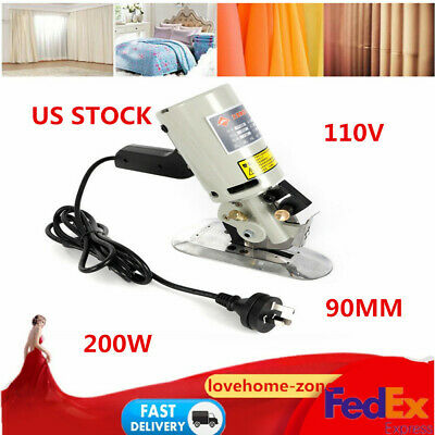 90mm Round Electric Fabric Cutter Cloth Textile Cutting Machine Free Shipping