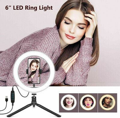 "6"" LED Ring Light Photo Studio Camera Light Photography Dimmable Video light"