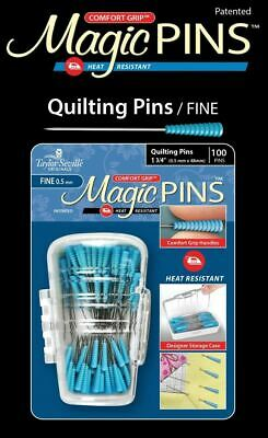 Taylor Mate Magic Pins Quilting Fine 100pc
