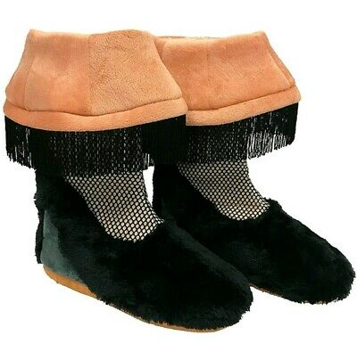 A Christmas Story Leg Lamp Boot Slippers Faux Fur Adult Small New