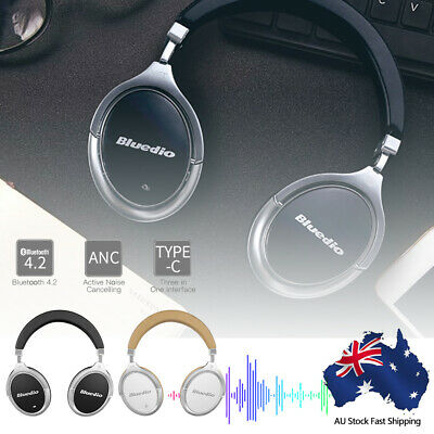 F2 Wireless Bluedio Bluetooth 4.2 Headphones Stereo Noise Cancelling Headsets AU