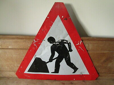 Men at work road works sign.  traffic sign.street sign.It's going to rain sign.