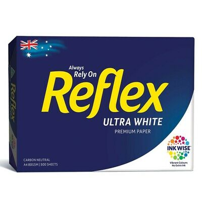 REFLEX A4 Ultra White Copy Paper - Pack of 5 X 500 Sheet INK WISE Vibrant Colour