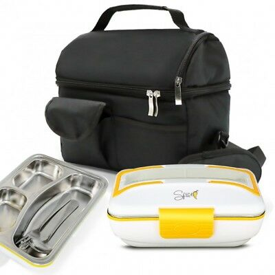 SET BORSA Termica + SPICE Amarillo inox TRIO Scaldavivande Lunch box inox