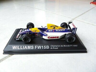 williams fw15c-1993 alain prost 1//43 collection formule 1 neuf socle plexi