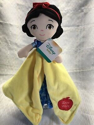 Disney baby Snow White Security Blanket Lovey Plush Toy Girl Yellow Blue