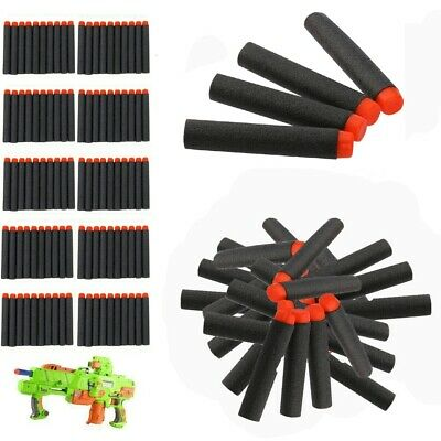 100-200 Gun Soft Refill Bullets Darts Round Head Blasters For Nerf N-Strike Toy