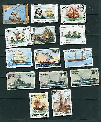 Set    stamps     of    ships