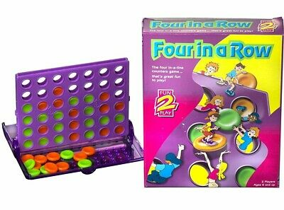 Four in a Row Travel Game - Connect 4, Kids Childrens Board Game Fun Paul Lamond
