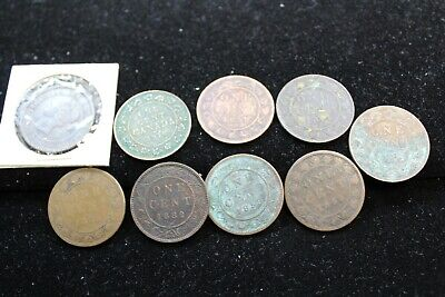 Canada 9 large cent coins   lot K 308