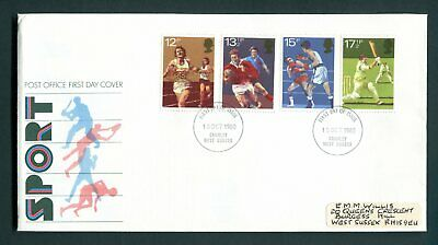 1980 GB Sport Centenaries FDC. Crawley, West Sussex First Day Cover SG 1134-1137