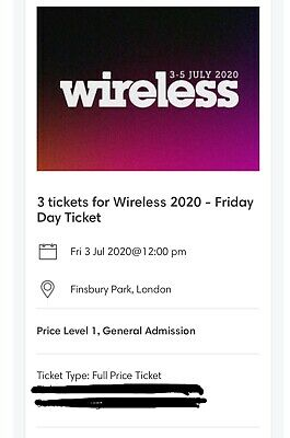 Wireless Festival 2020 Friday 3rd July Tickets