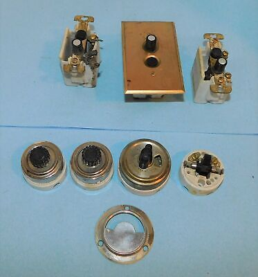 Assorted lot antique-vintage rotary -push button ceramic light switches