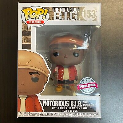 Funko POP The Notorious BIG with Champagne 153 Exclusive IN HAND