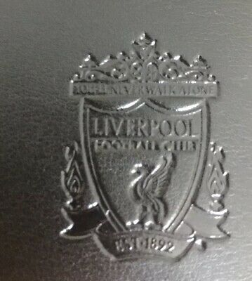 Liverpool Football Club Crest Official Black Leather Wallet  Stadium