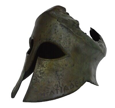 Miltiades Bronze Helmet from Battle of Marathon - Olympia Museum Replica