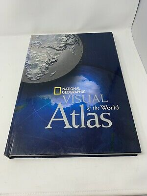 """2009 National Geographic Visual Atlas of the World  Hardcover Geography 17""""x11"""""""