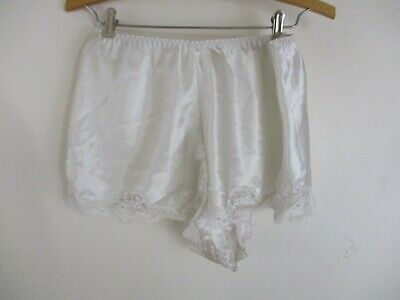 Victoria's Secret Vintage Panties satin S white lace