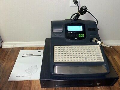 TEC MA-600-1 Series Electronic Cash Register Dual Thermal w/ Keys And Manual