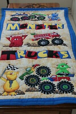 Monster Trucks Quilted Wall Hanging
