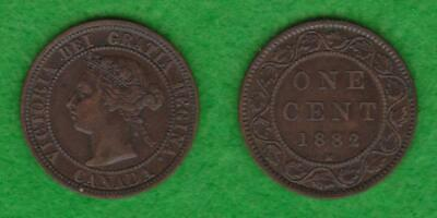 1882-H Canada One Cent Victoria Higher Grade  ---  Paek
