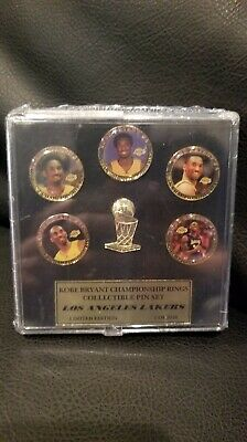 LA Lakers KOBE BRYANT - CHAMPIONSHIP RING COLLECTION PIN SET *ONLY 2010 MADE*