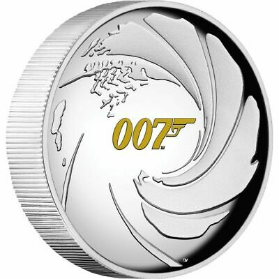 2020 James Bond 1oz Silver Proof High Relief Coin