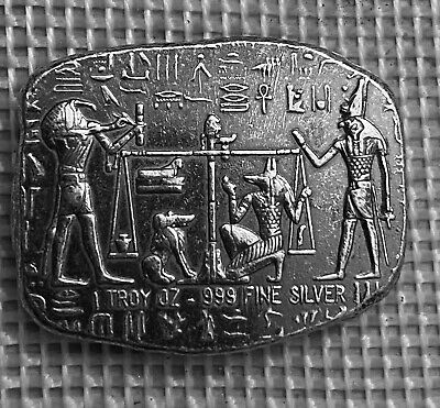 Old World Style Egyptian King Tut 1//4 oz .999 Silver Antiqued US Round 4 Pack
