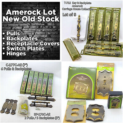 Amerock Lot Pulls Backplates Switch Plates Hinges Carriage House Collection NOS