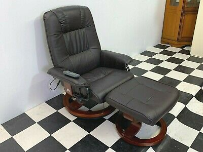 Drive Medical Napoli reclining swivel massage armchair with matching footstool
