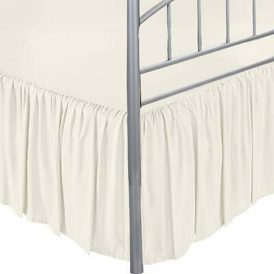 """1PC GOLD GYPCY RUFFLE CASCADE WATERFALL SOLID BED SKIRT 16/"""" INCH DROP TWIN"""