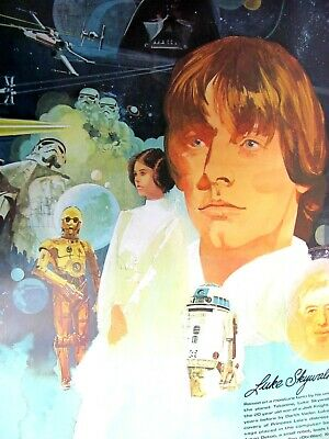 All 4 Original..1977 Star Wars Posters..coca-Cola..burger Chef