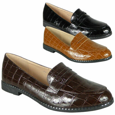 Ladies Large Sizes Loafers Womens Slip on Pumps Work Office Comfy School Shoes