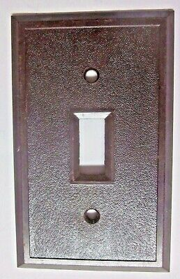 Switch Wall Plate Cover Fine Pebbled Textured Brown Bakelite Antique See Cond.