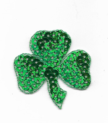 "Large Irish Shamrock Patch Iron On Appliques 7.5cm 3 1//4/"" St Patrick/'s Day"