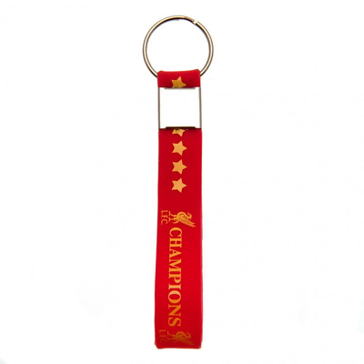 Liverpool FC Champions Of Europe Silicone Keyring | OFFICIAL
