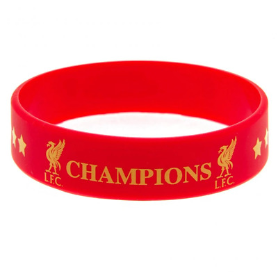 Liverpool FC Champions Of Europe Silicone Wristband | OFFICIAL