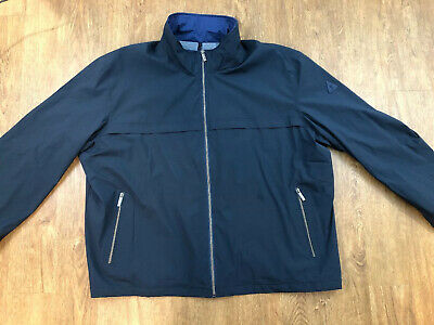 London Fog Navy Jacket Mens Size 4XL Wind And Water Resistant NWT $115