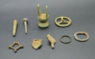 Various Roman & Celtic bronze tools/junctions and pins