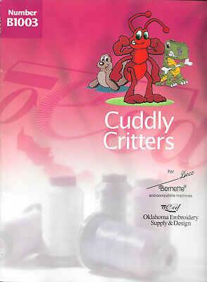 CUDDLY CRITTERS #B1003 Embroidery Card for Brother, Baby Lock, Bern. Deco .pes