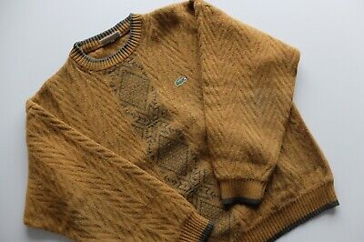 Vintage Lacoste Chemise wool alpaca knit jumper S/M made in Spain 70s/80s Rare