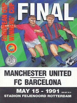 1991 Cup Winners Cup Final - Football Programme - Barcelona v Manchester United